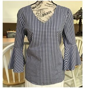 Jane & Delancey Gingham Top with Bell Sleeves